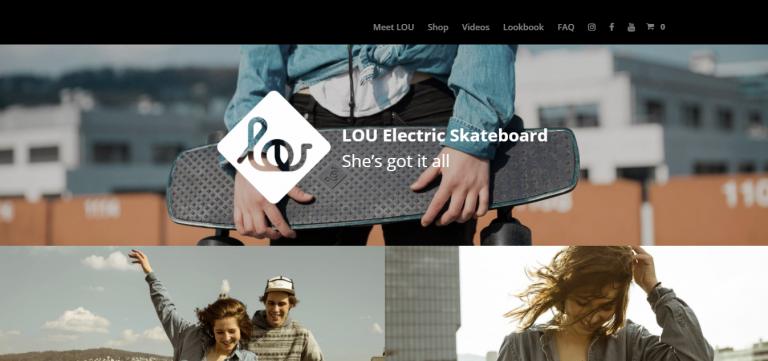 Lou Board, e-ticaret sitesi örneği