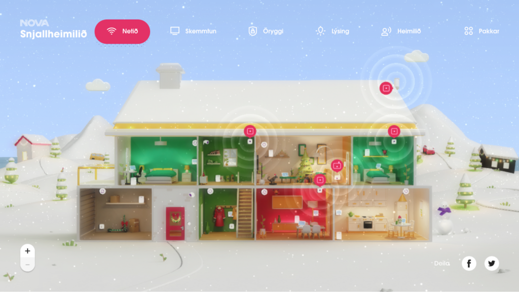 Nova Smart Home, e-ticaret sitesi örneği