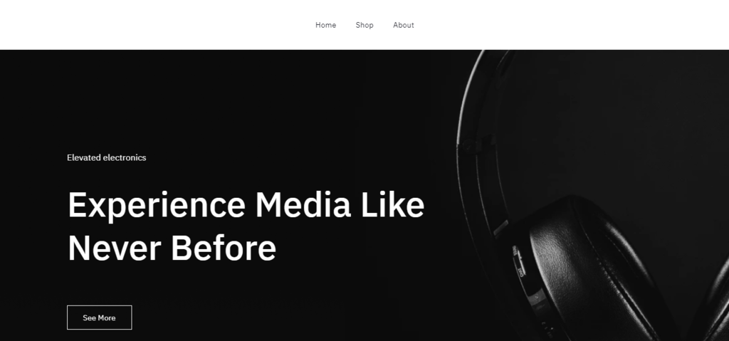 Zyro'nun Safa web site şablonu