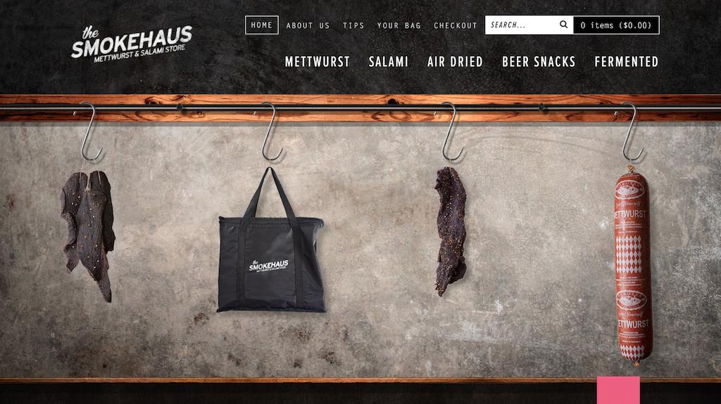 Smokehaus, e-ticaret sitesi örneği