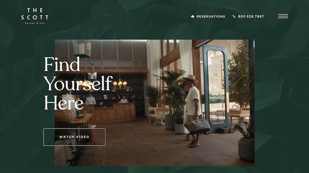 The Scott Resort & Spa, e-ticaret sitesi örneği