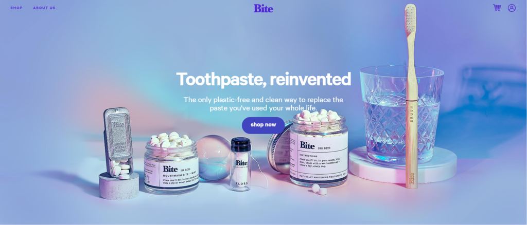 Bite Toothpaste e ticaret sitesi örnekleri