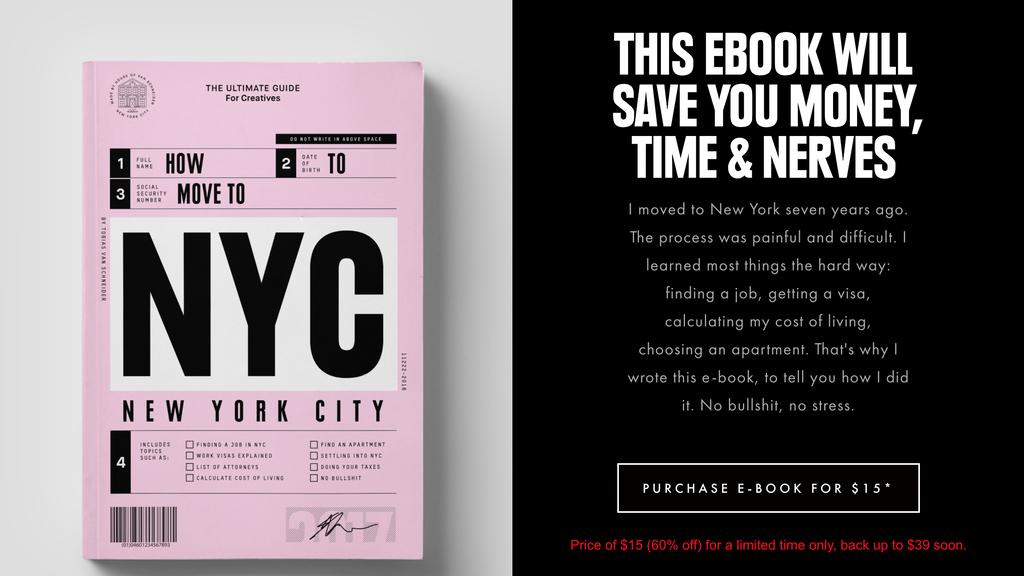 Let's Go to NYC'nin Açılış Sayfası