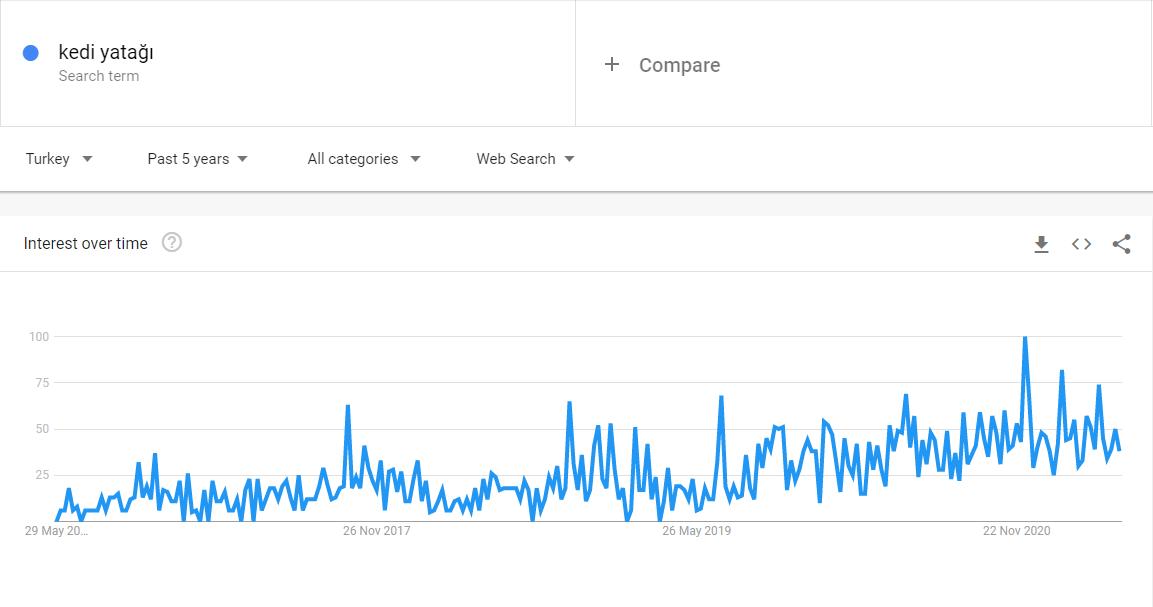 En Çok Satılan Ürünler: Kedi Yatağı, Google Trends Sonucu