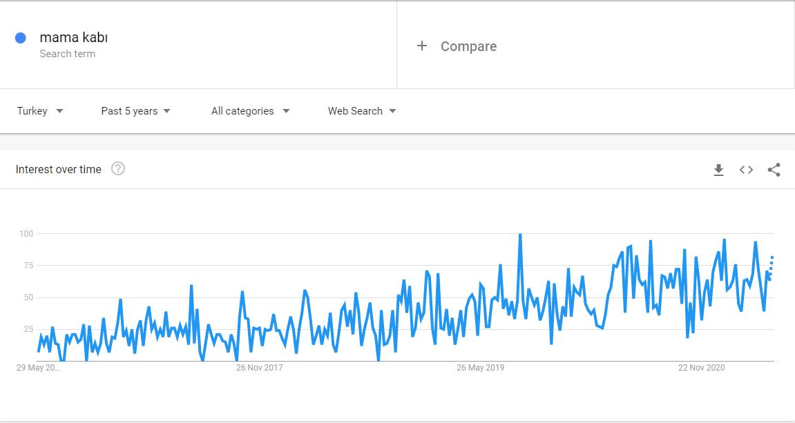 En Çok Satılan Ürünler: Mama Kabı, Google Trends Sonucu