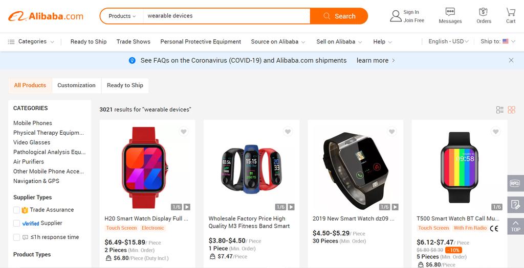 Alibaba en çok satılan ürünler
