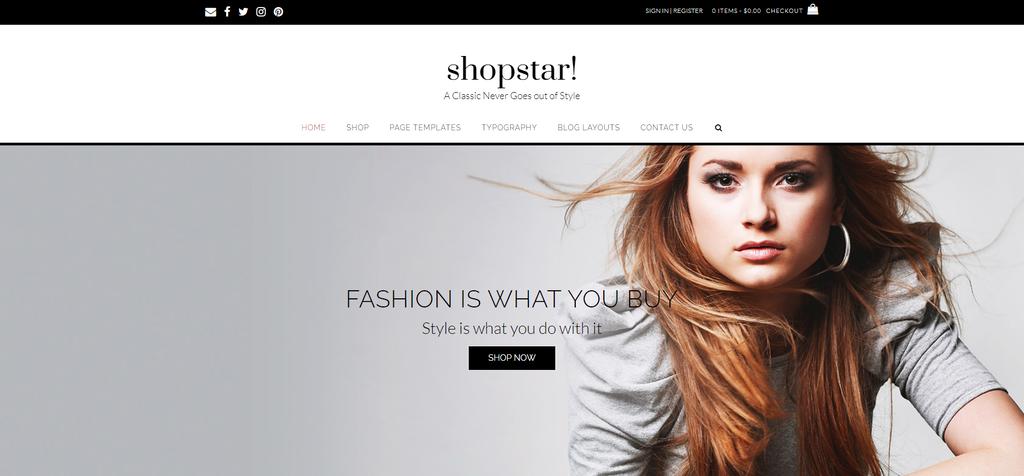 Shopstar - WP WooCommerce Teması