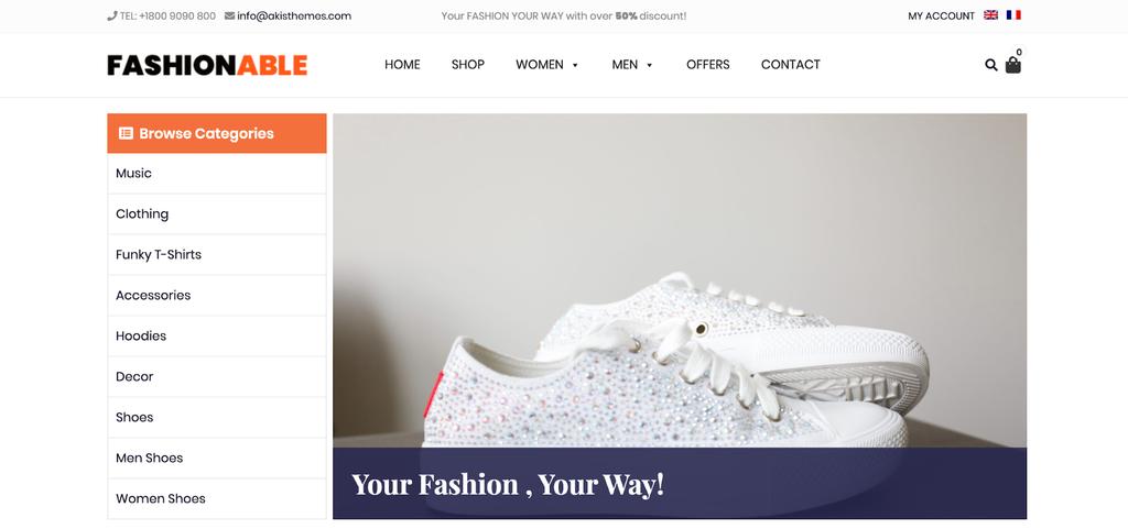 Fashionable Store WP WooCommerce Tema